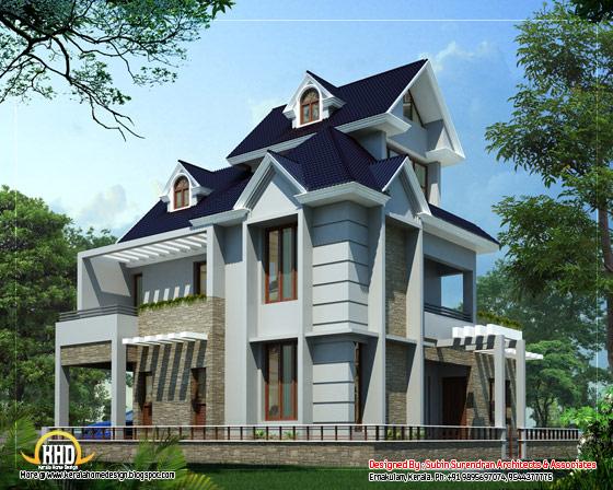 Unique home design - 2012 Sq. Ft. (187 Sq. M. )(223 Square Yards) - March 2012