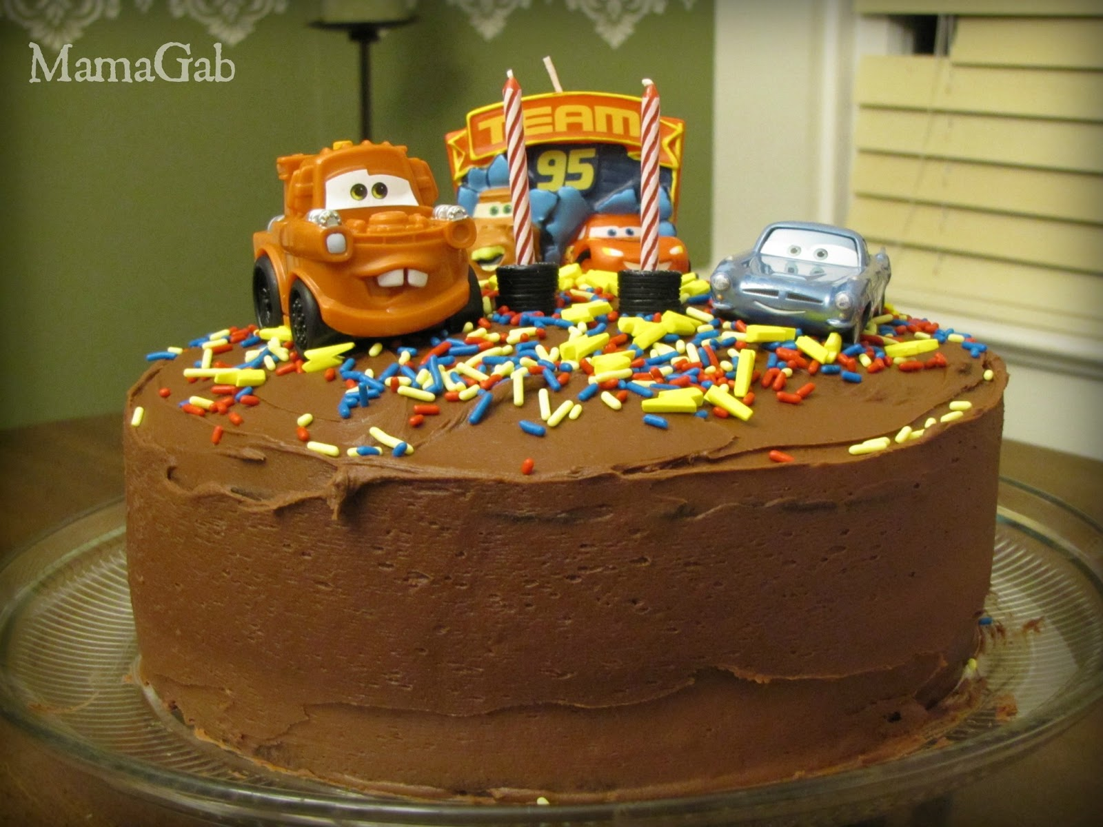 Making Birthday Cakes At Home An Easy Cars Cake Living With Food