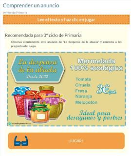 http://www.mundoprimaria.com/lecturas-infantiles/comprender-un-anuncio.html