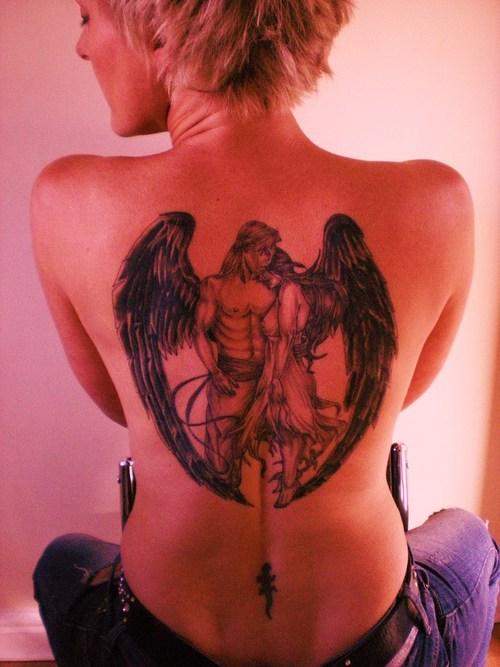 fallen angel tattoos combine blog. Black Bedroom Furniture Sets. Home Design Ideas