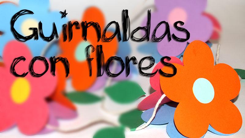 guirnalda con flores 3D