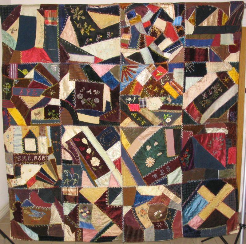 Crazy Quilt Pattern Images : Now it s just quilts!: Crazy Quilt Construction