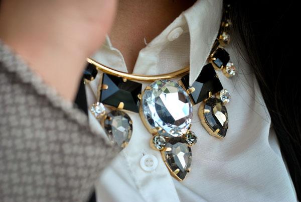 Maxi colar de pedras com camisa - Gabriela Pires