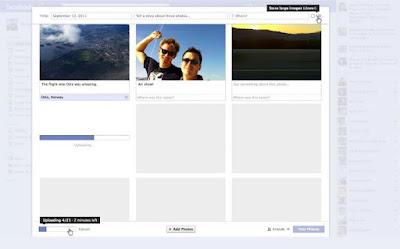 Facebook mejora la interfaz para subir fotos