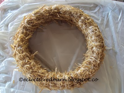 Eclectic Red Barn: Straw wreath
