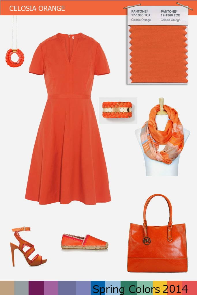 PANTONE Spring Color 2014 - Celosia orange