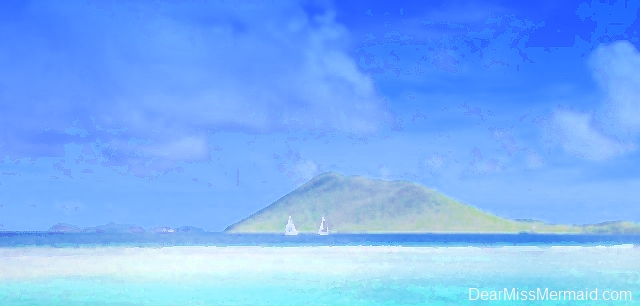 Caribbean sailboats in the Virgin Islands by DearMissMermaid.Com