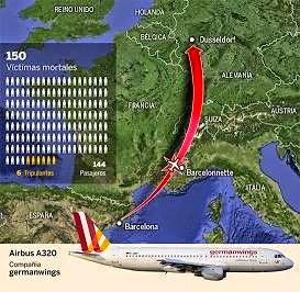 Se estrella  avión con 150 personas a bordo en los Alpes Franceses