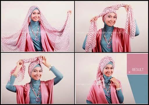 Carpon Singkat Gambar - Gambar Tutorial Hijab