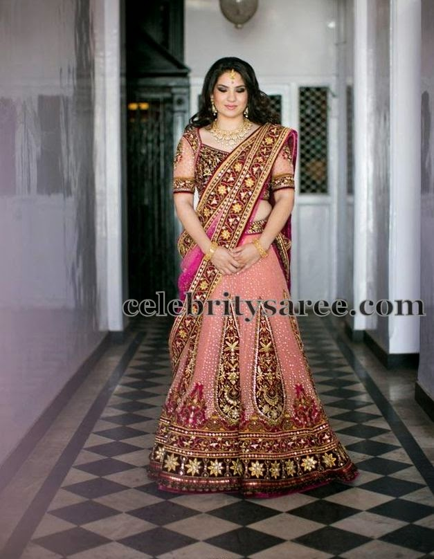 Tarun Tahiliani Wedding Half Saree