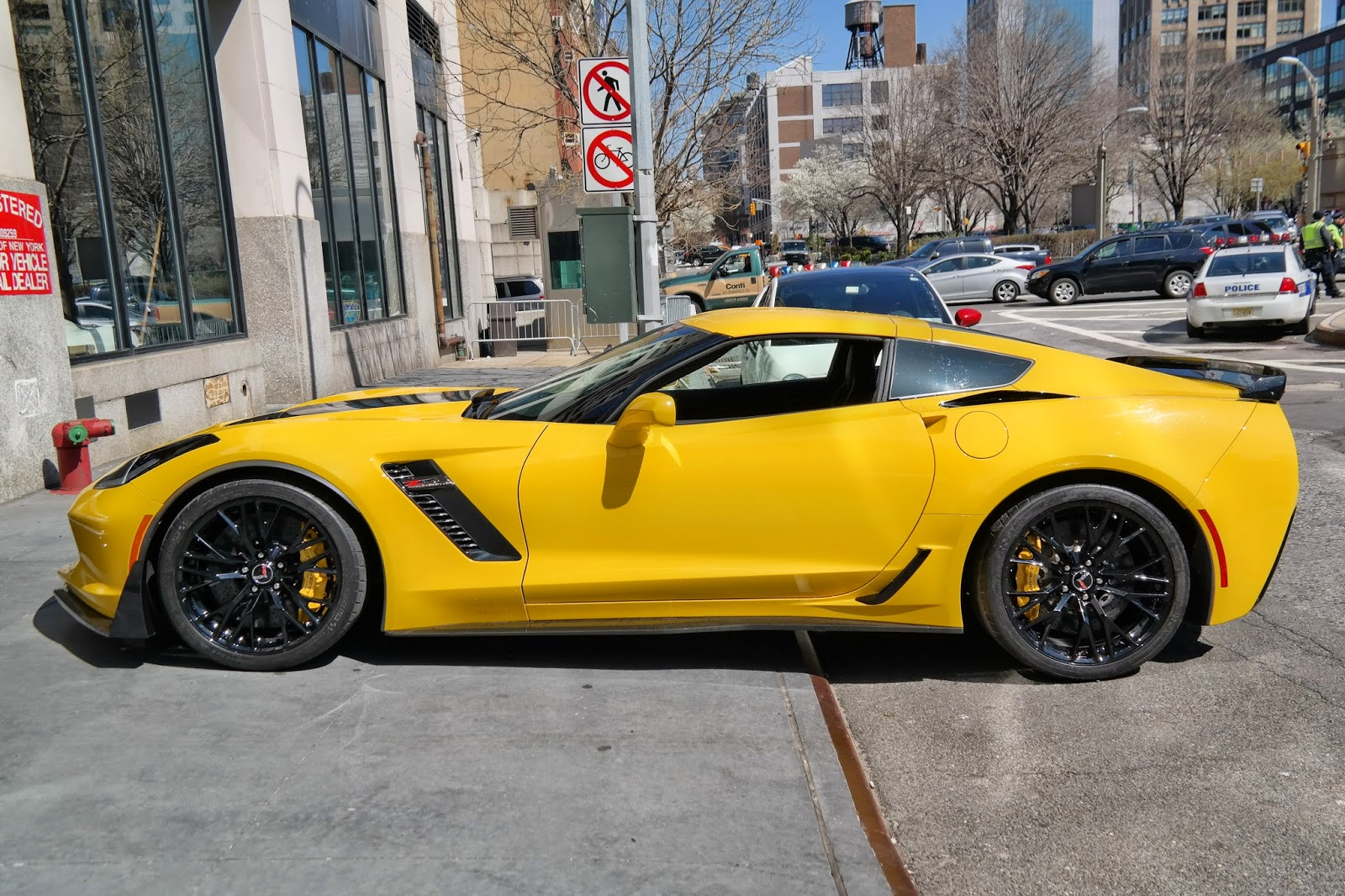 Yellow 2014 Corvette C7 Z06 Side Profile