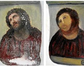 Cristo de Borja restaurado por Cecilia Giménez