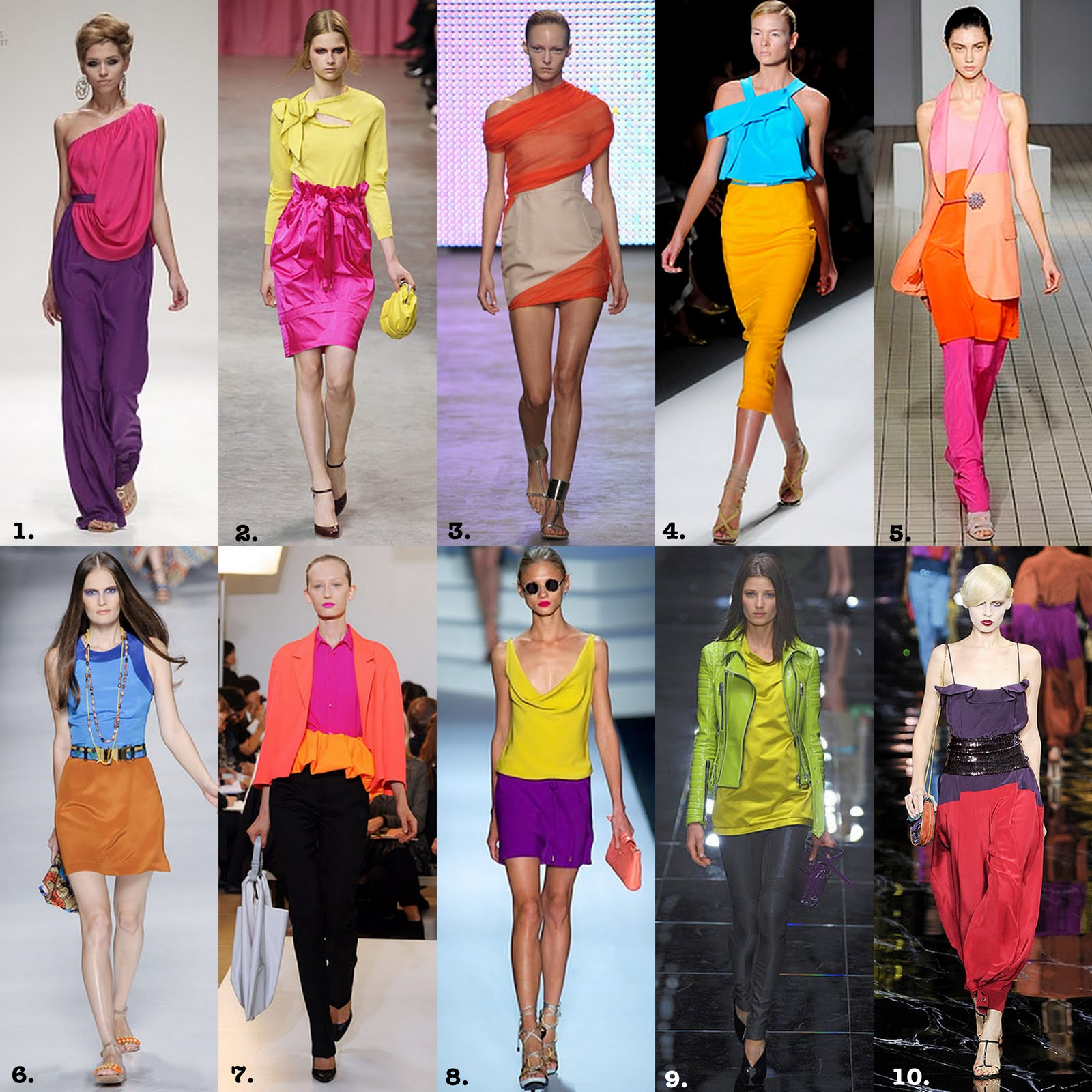 Bright Colour Blocking Trend recommend