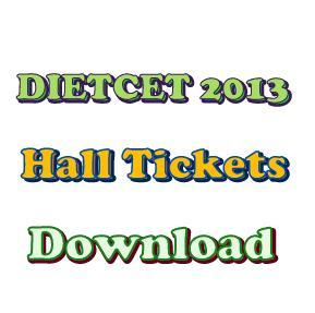 AP DIETCET 2013 Hall Tickets