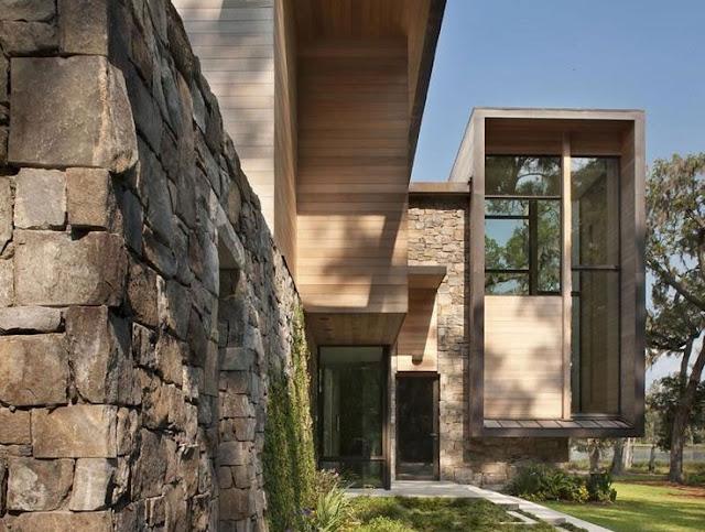 model rumah minimalis batu alam