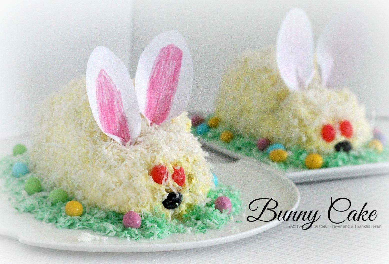 Easter Bunny Cake - Grateful Prayer | Thankful Heart