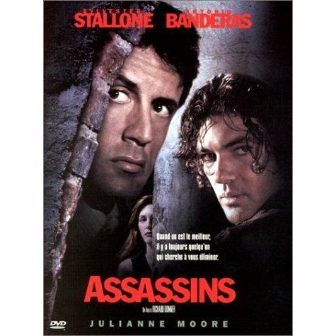 Assassins (Released in 1995) - An average movie, starring Sylvester Stallone, Antonio Banderas and Julianne Moore