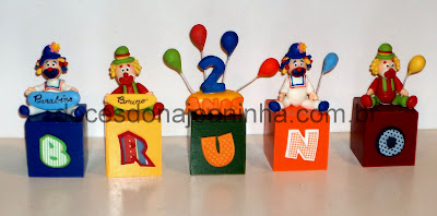 doces decorados Patati Patata palhacinho Mickey Minnie Donald Pateta Pluto Margarida  Baby Disney