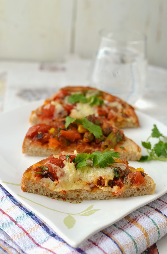 Spicy Vegetable Sandwich (Masala VeggieToast)