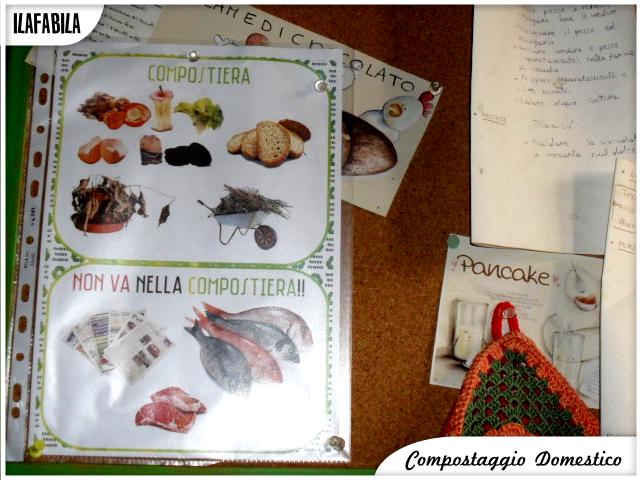 Organizzare la Raccolta Differenziata: Compostiera, tabella stampata