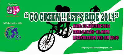 GO GREEN!! LET'S RIDE