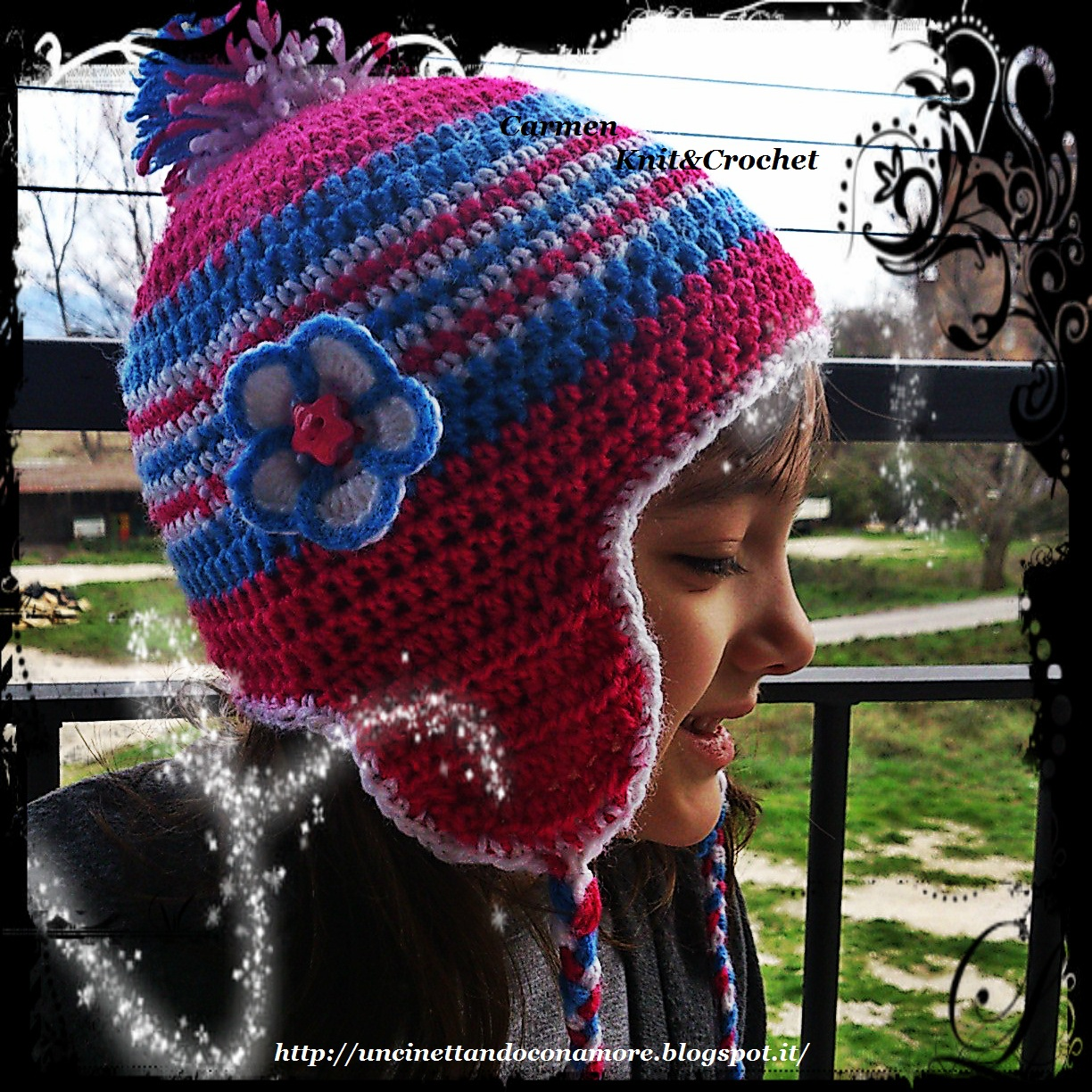 My Lovely Crochet Cappello Con Paraorecchie Hat With Earflap