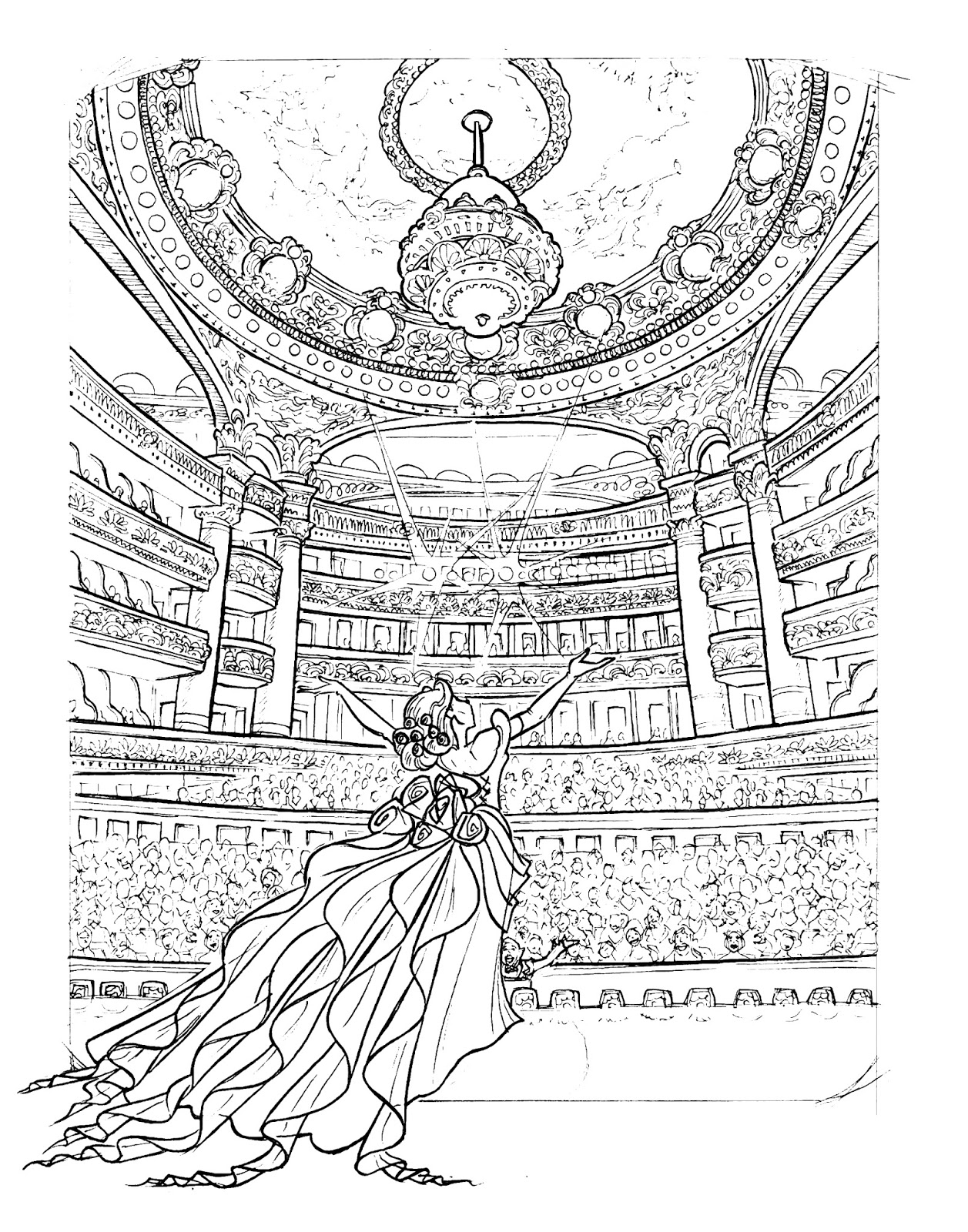 The Chandelier Lines Concept Art For Phantom Of Opera 2013