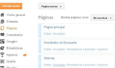 Como crear un sitemap automático para mi blog de blogger