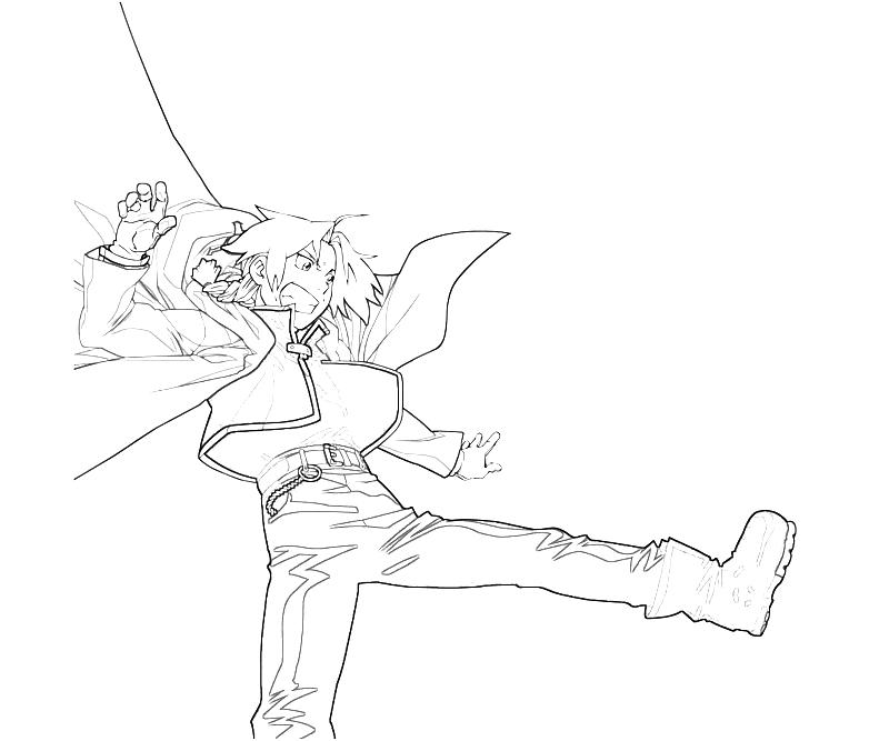 free fullmetal alchemist coloring pages - photo#30