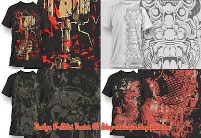 Gambar Desain Baju Kaos T-Shirt Vector