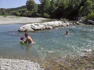 ... Après la baignade dans le Buëch.