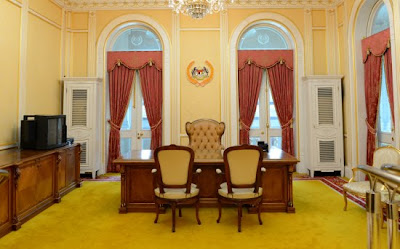 One of the rooms used by the Yang di-Pertuan Agong at the old Istana Negara.