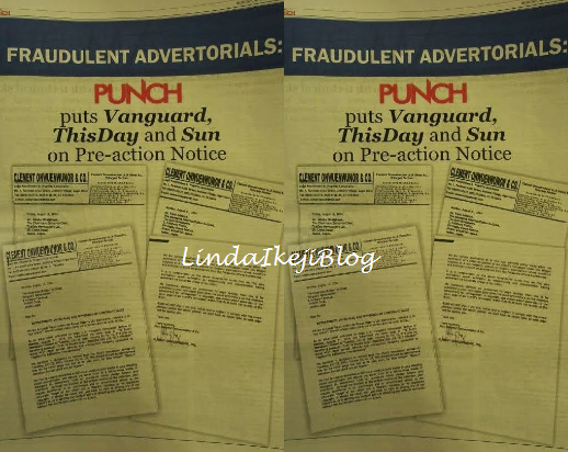 Punch threatens to sue Vanguard, Thisday & The Sun