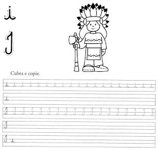 atividade caligrafia letra i