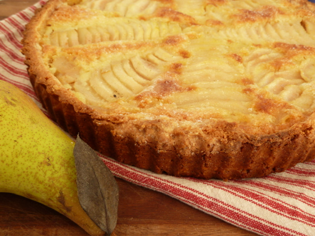 Pear and Almond Tart. So French.