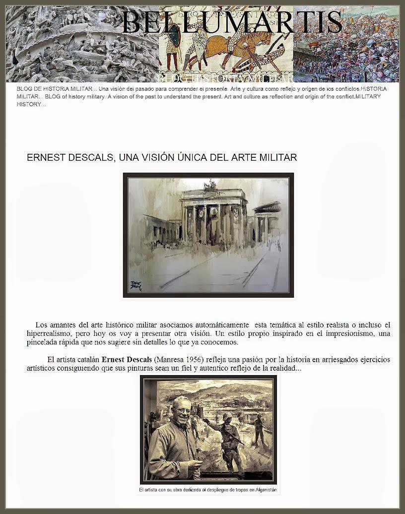ARTE MILITAR-PINTURA-HISTORIA-MILITARY-ART-PAINTINGS-BELLUMARTIS-CUADROS-PINTOR-ERNEST DESCALS