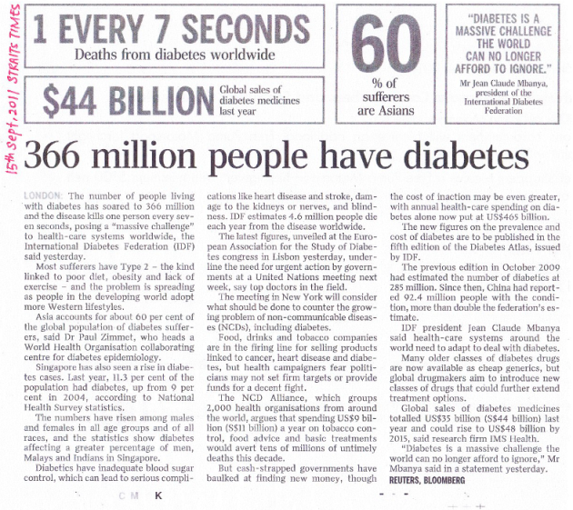 an article on diabetes
