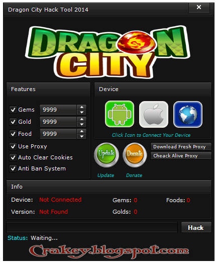 Dragon City Cheats Hack Gems Foods Golds 2014