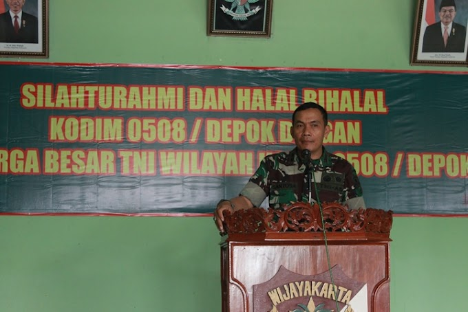 Kodim 0508/Depok Gelar Halal Bihalal Dengan Keluarga Besar TNI