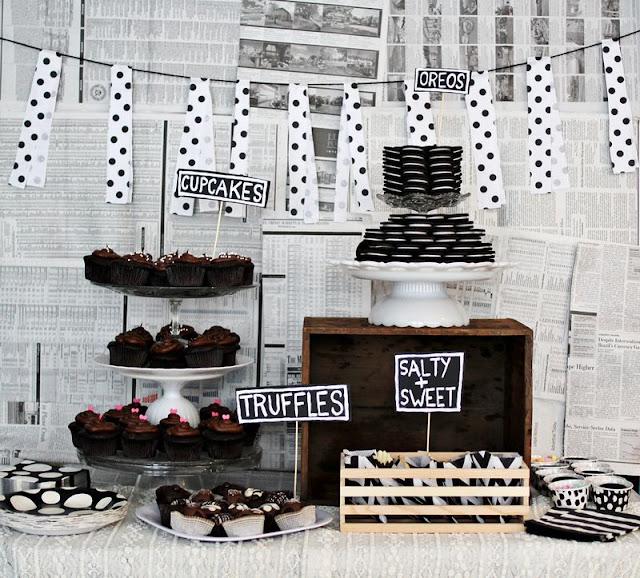 Elements of design rhythm black white party