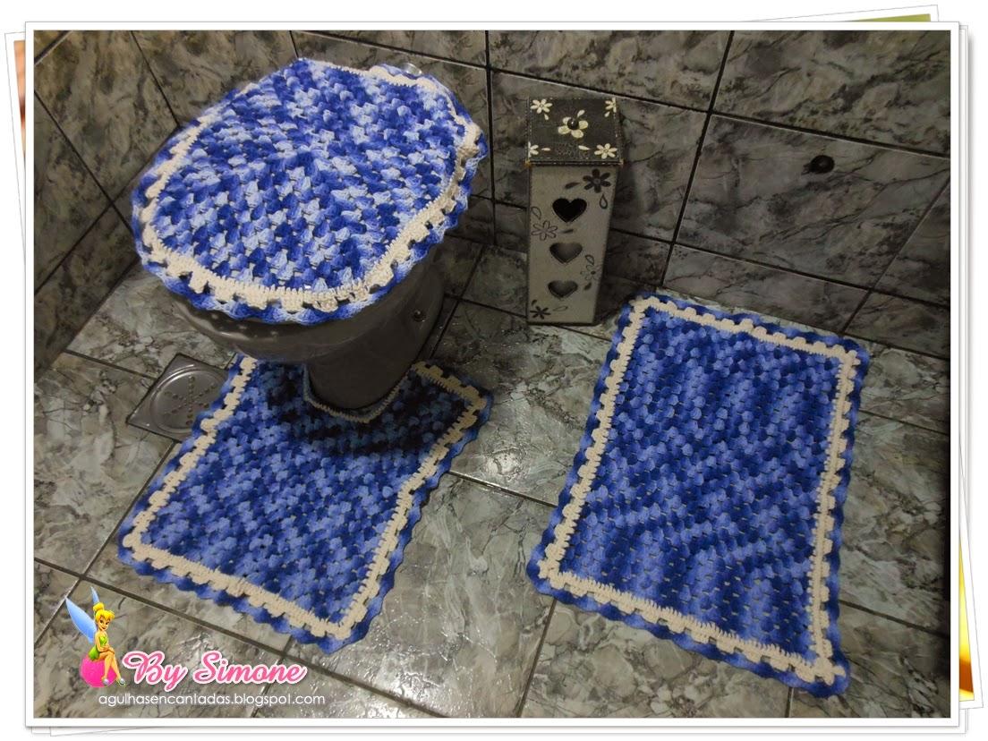 Jogo banheiro crochê, jogo banheiro Barroco