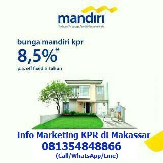 Bunga KPR mandiri 8,5%