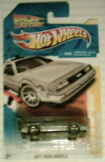 Front of Back To The Future Time Machine from Hot Wheels