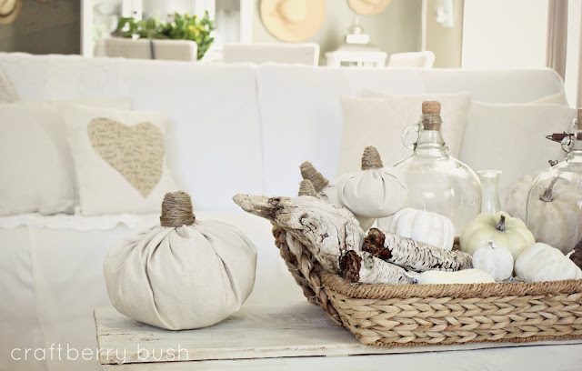 Easy drop cloth pumpkins