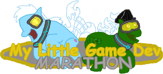 A modified version of the My Little Game Dev Marathon logo