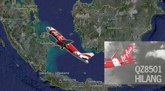 Video Bangkai Pesawat AirAsia QZ8501 Berjaya Dikesan Sistem Sonar