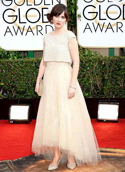 Zooey Deschanel in Golden Globes 2014