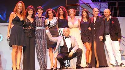 Muscari y elenco de La Casa de Bernarda Alba