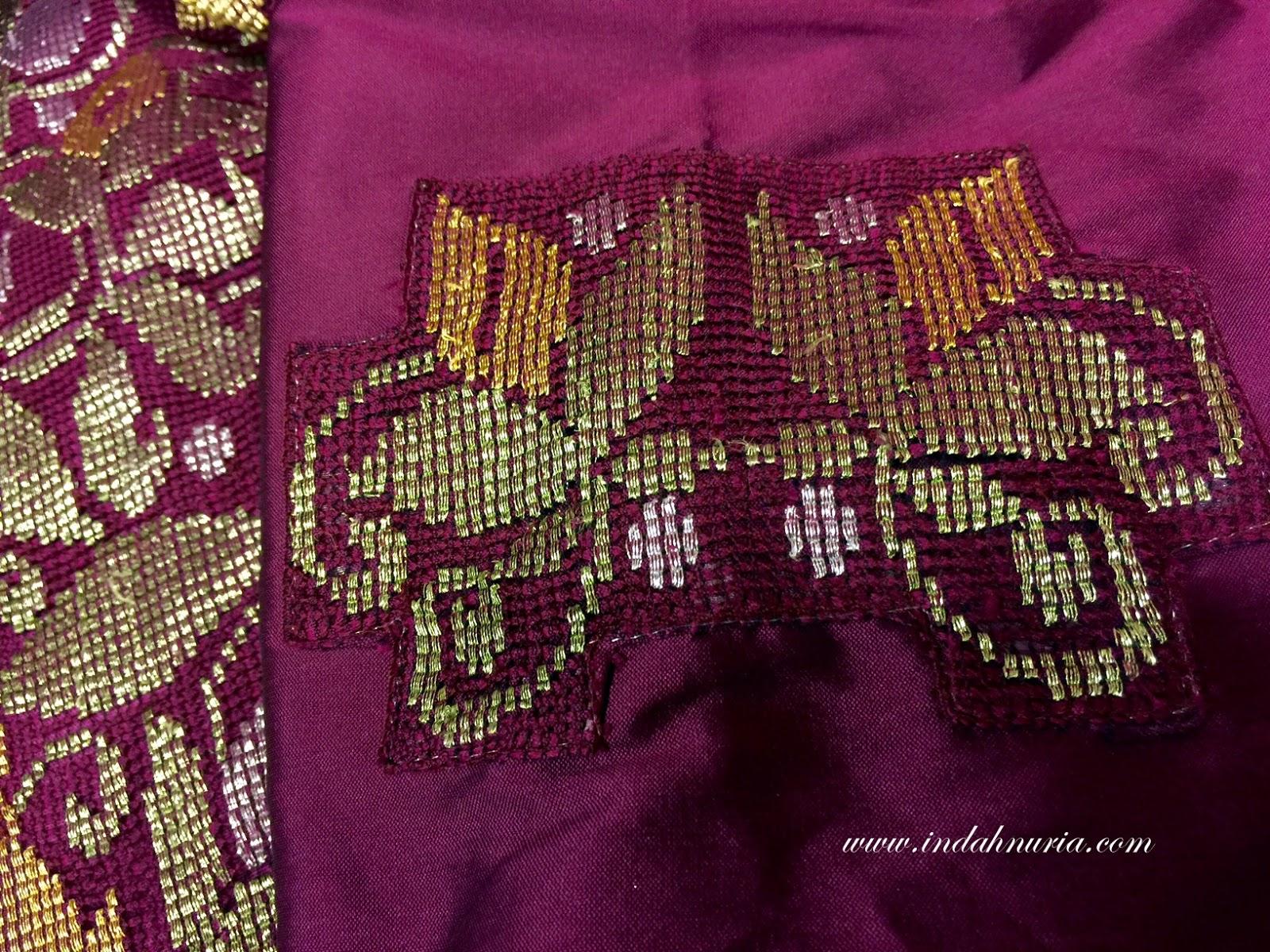 my purple world ww tenun karawo from gorontalo