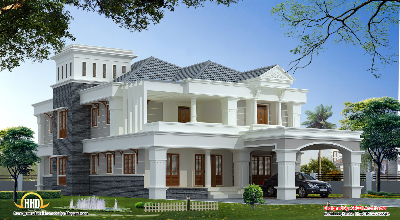3700 sq ft luxury villa design kerala home design and for Small villa plans in kerala